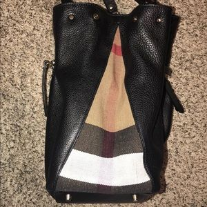 Burberry Bags - Burberry Leather Canvas Medium Maidstone Tote-100%